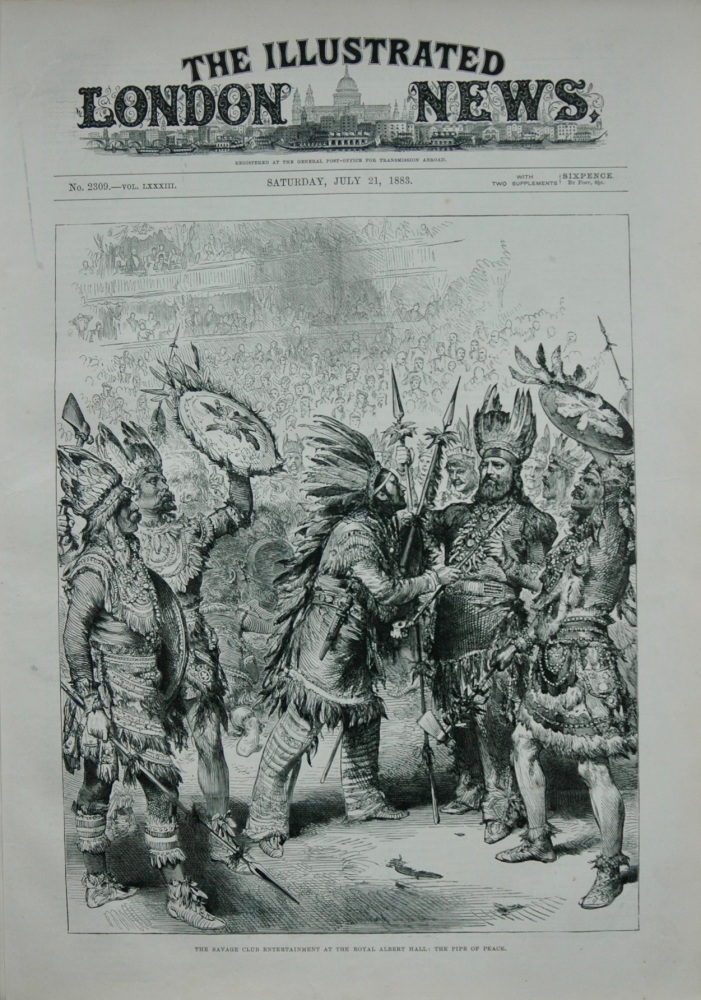 The Savage Club Entertainment at the Royal Albert Hall : The Pipe of Peace.  1883.
