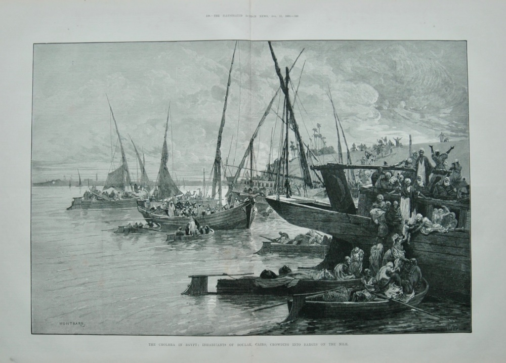 The Cholera in Egypt - Boulak - 1883