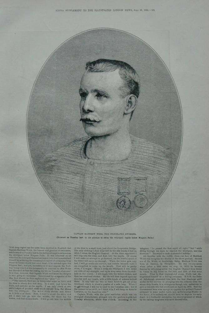 Captain Matthew Webb - 1883