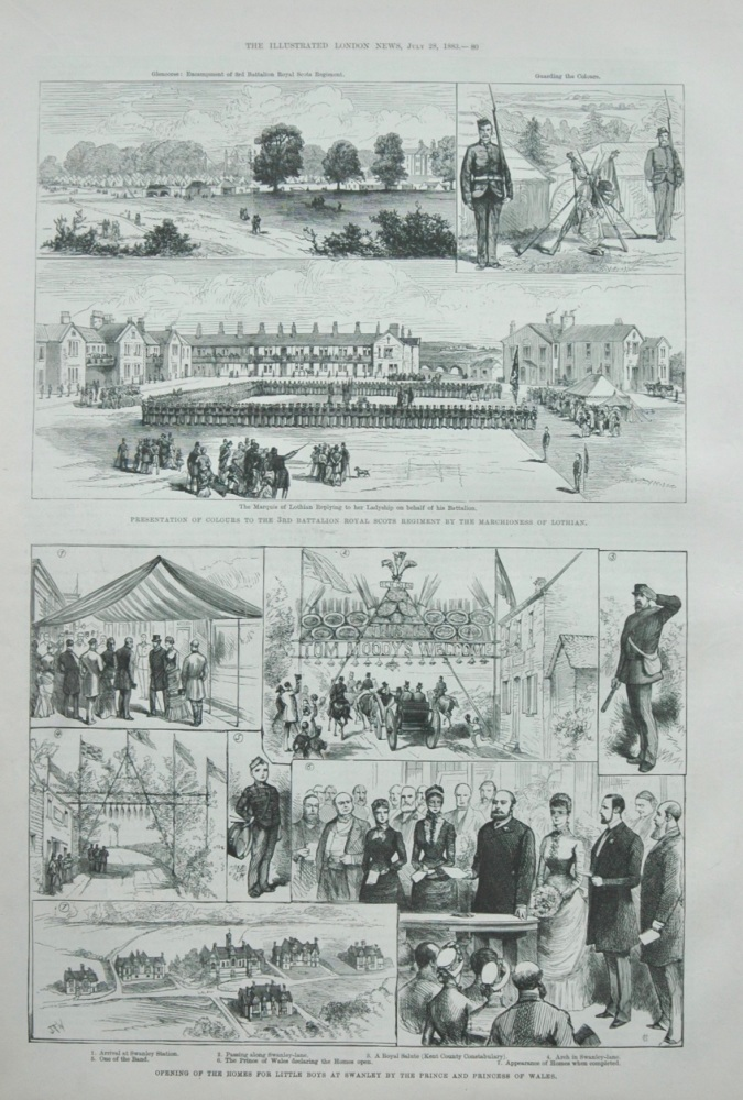 """Swanley Homes""  &   ""3rd Battalion Royal Scots"" 1883"