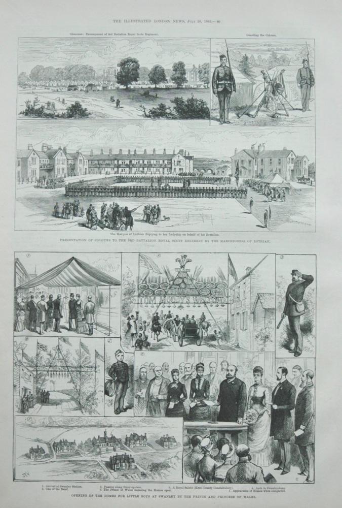 """Swanley Homes""  &   ""3rd Battalion Royal Scots"" 1883"