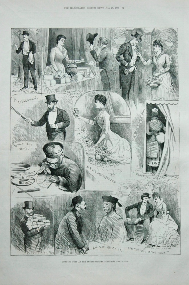 """Evening Fete at the International Fisheries Exhibition"" 1883"