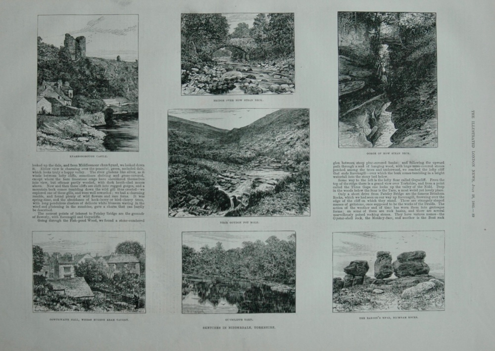 Sketches in Nidderdale, Yorkshire - 1883