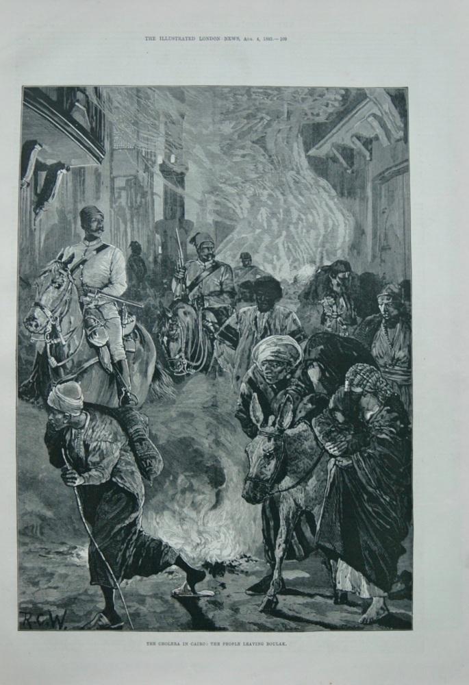 The Cholera in Cairo - 1883