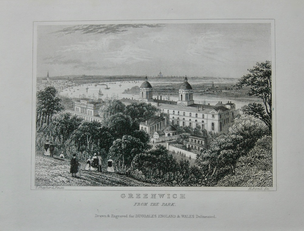Greenwich from the Park.  1845.