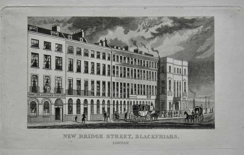 New Bridge Street, Blackfriars, London.  1845.