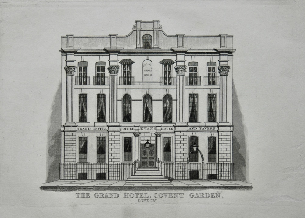 The Grand Hotel, Covent Garden, London.  1845.