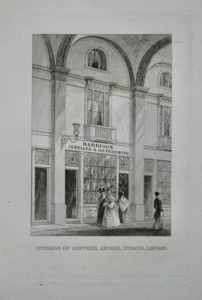 Interior of Lowther Arcade, Strand, London.  1845.