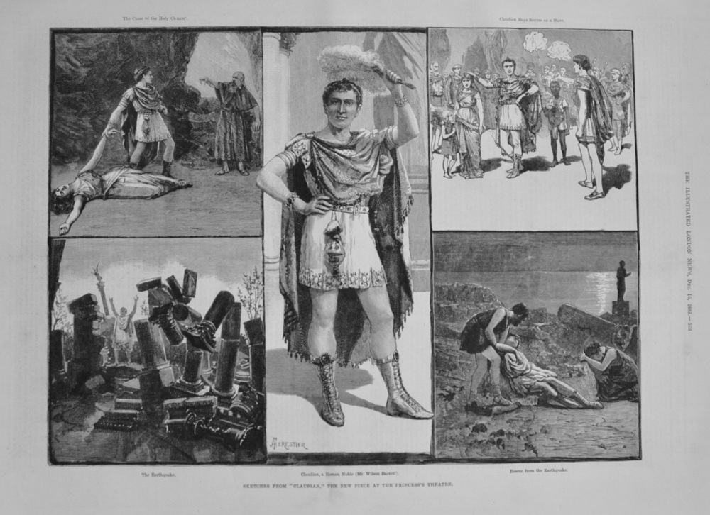 "Sketches from ""Claudian"" the new piece at the Princess's Theatre. - 1883"
