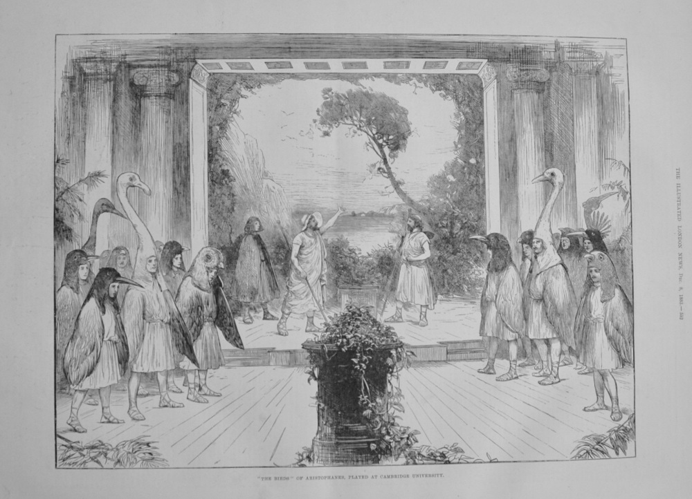 """""""The Birds"""" of Aristophanes, played at Cambridge University. - 1883."""