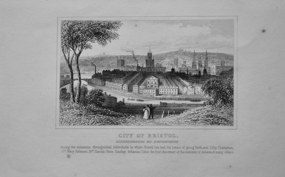 City of Bristol, Gloucestershire and Somersetshire.  1845.