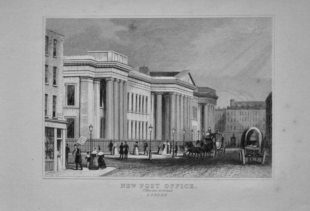 New Post Office. St. Martins-le-Grand.  London.  1845.