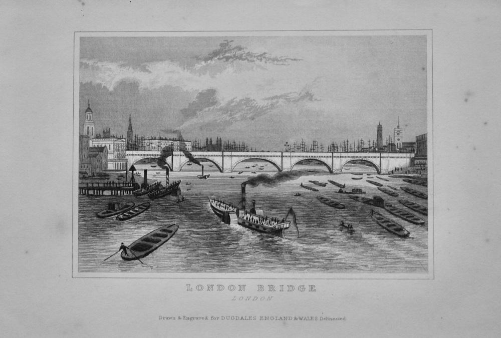 London Bridge. London.  1845.