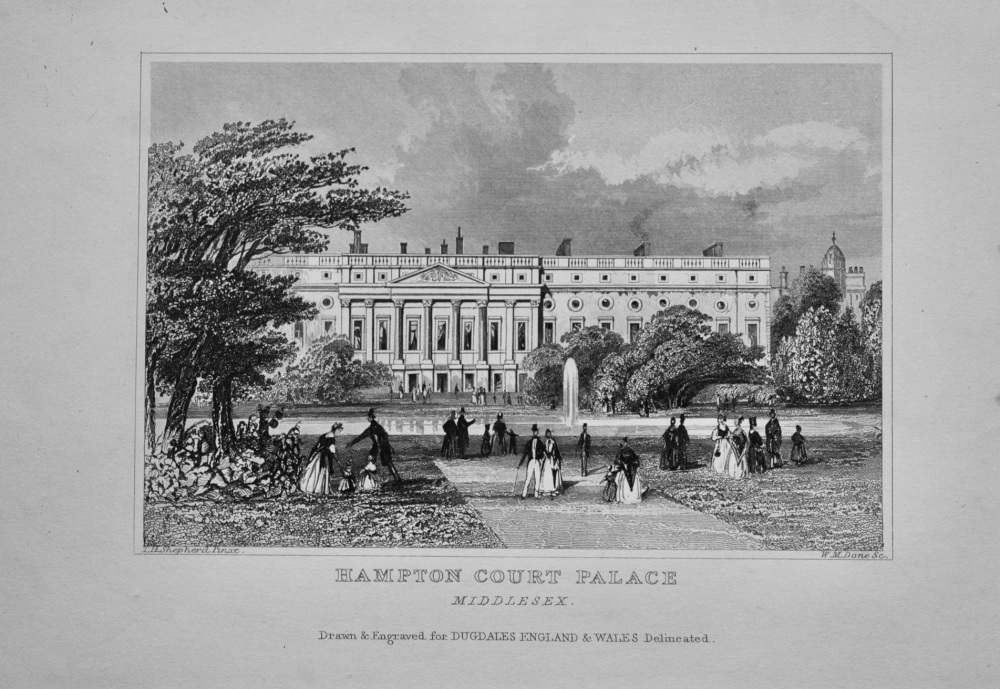 Hampton Court Palace. Middlesex.  1845.