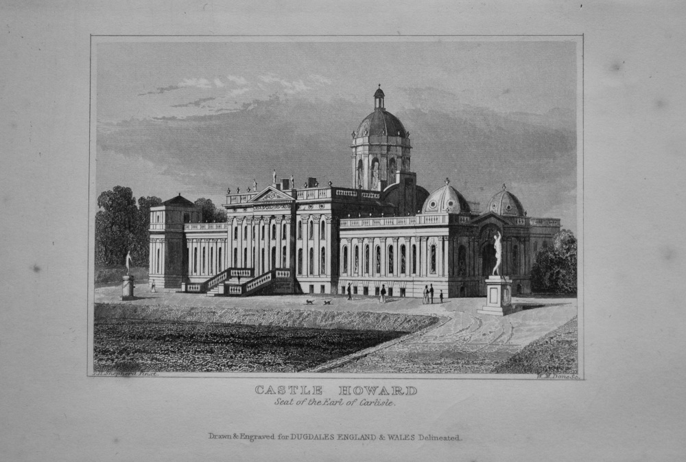 Castle Howard. Seat of the Earl of Carlisle.  1845.
