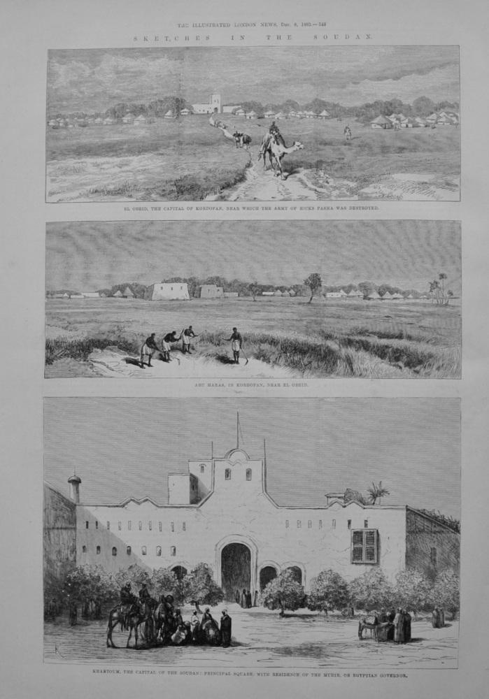 Sketches in the Sudan - 1883