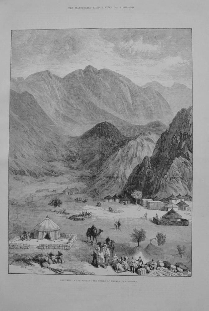 Sketches in the Soudan : The Defile of Haraza, in Kordofan.  1883.