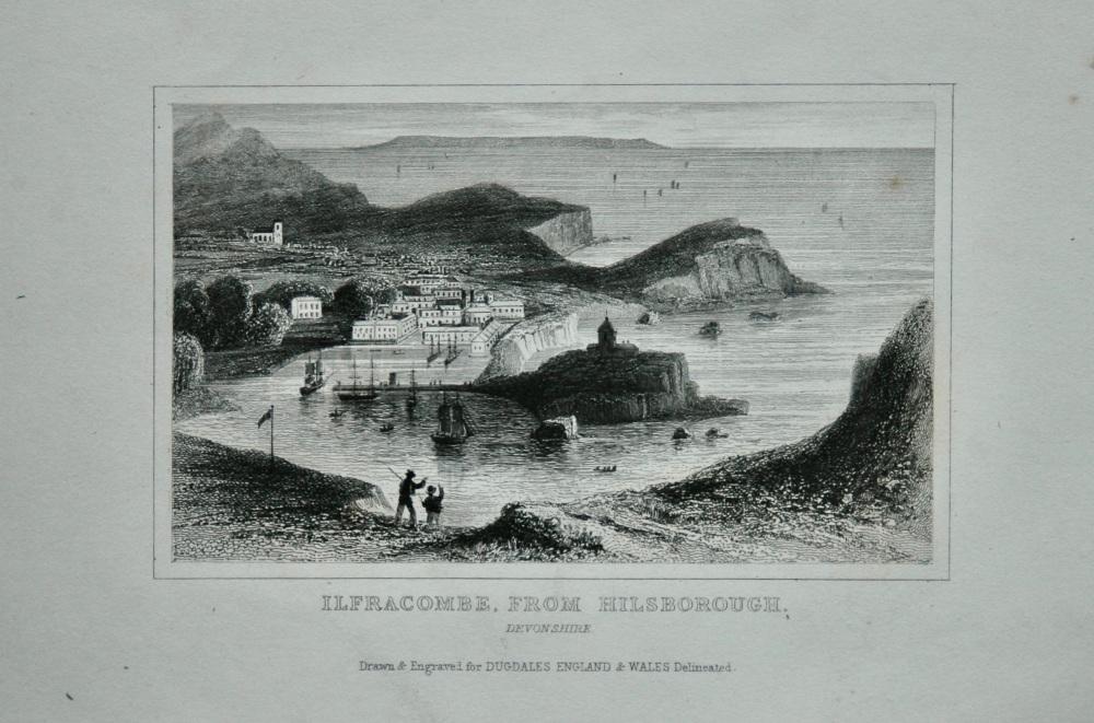 Ilfracombe, from Hilsborough. Devonshire. 1845.