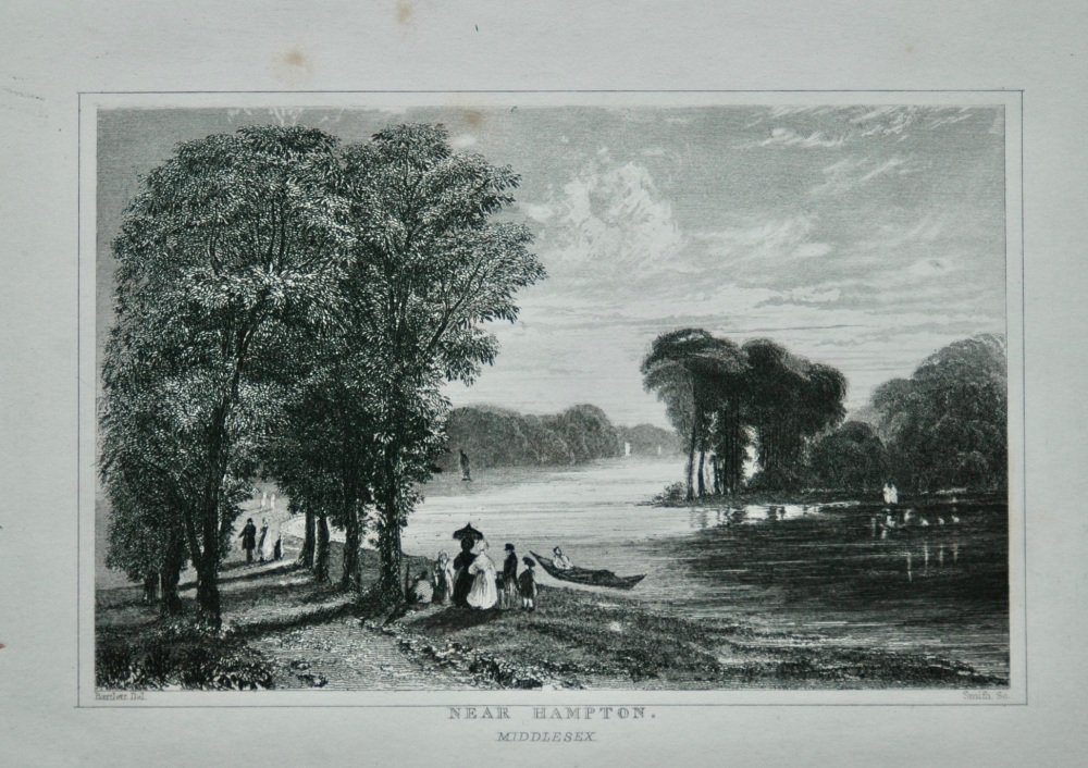 Near Hampton. Middlesex.  1845. (River Thames)