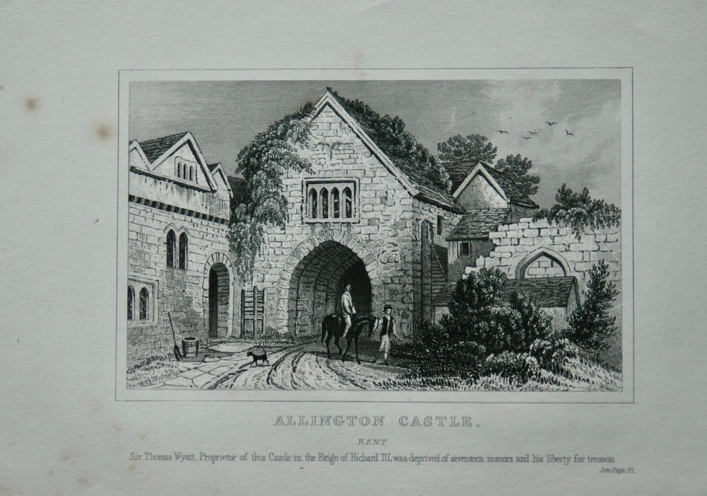 Allington Castle. Kent.  1845.
