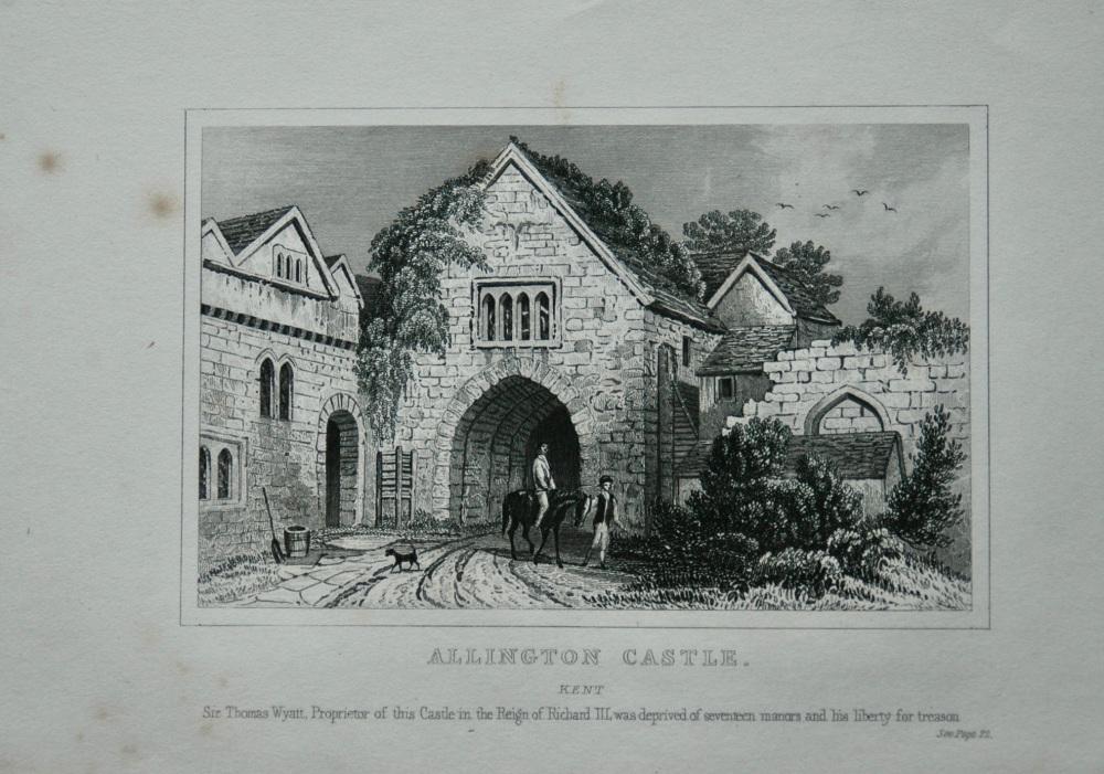 Allington Castle. Kent.  1845.