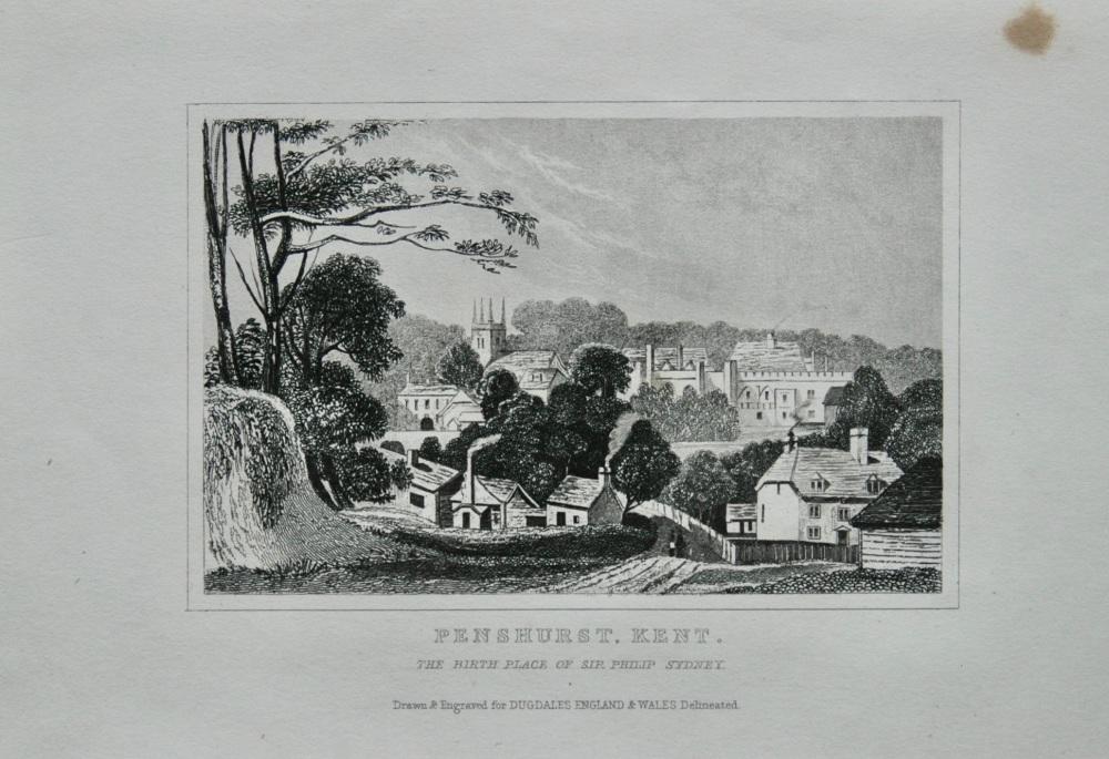 Penshurst. Kent.  (The Birth Place of Sir Philip Sydney.)  1845.