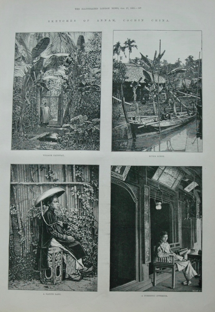 Sketches of Annam , Cochin China.  1883