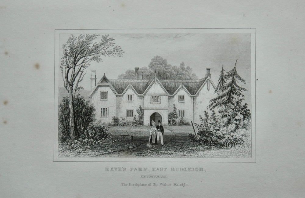 Haye's Farm, East Budleigh, Devonshire.  1845.  (The Birthplace of Sir Walter Raleigh.)