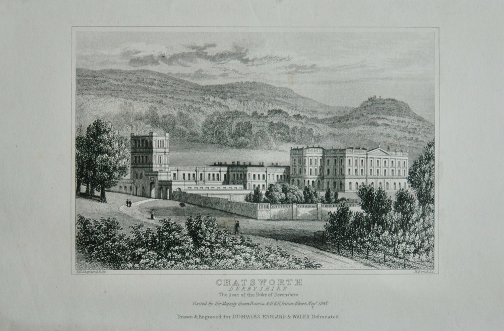 Chatsworth, Derbyshire. The Seat of the Duke of Devonshire.  1845.