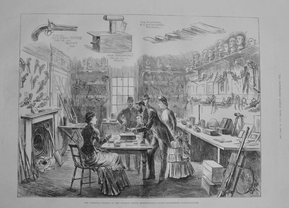 Criminal Museum at Scotland Yard - 1883