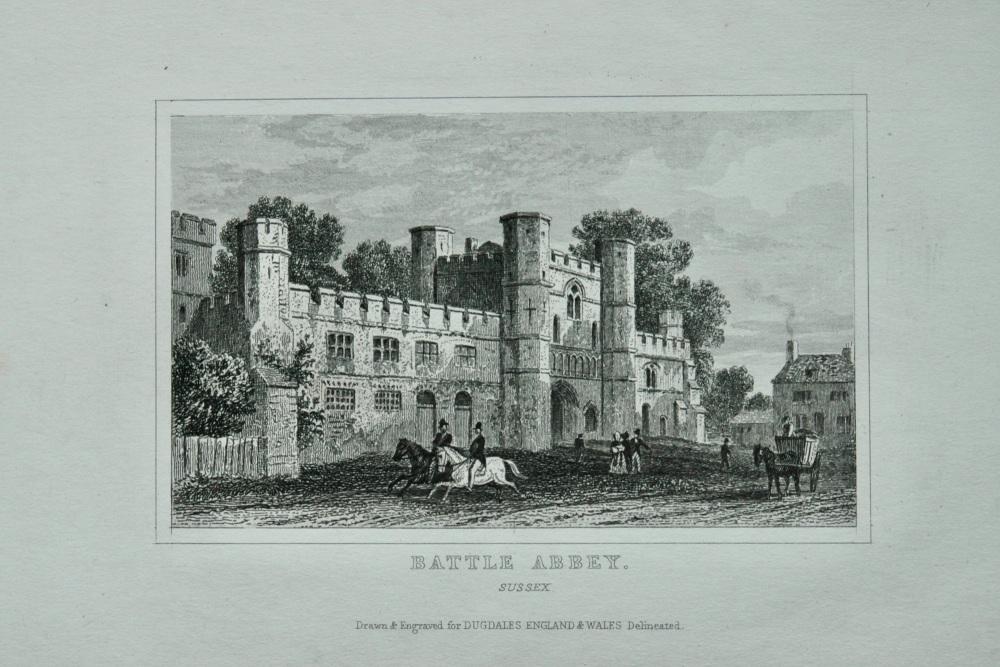 Battle Abbey. Sussex.  1845.