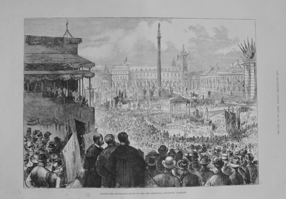 """New Municipal Buildings, Glasgow"" 1883"