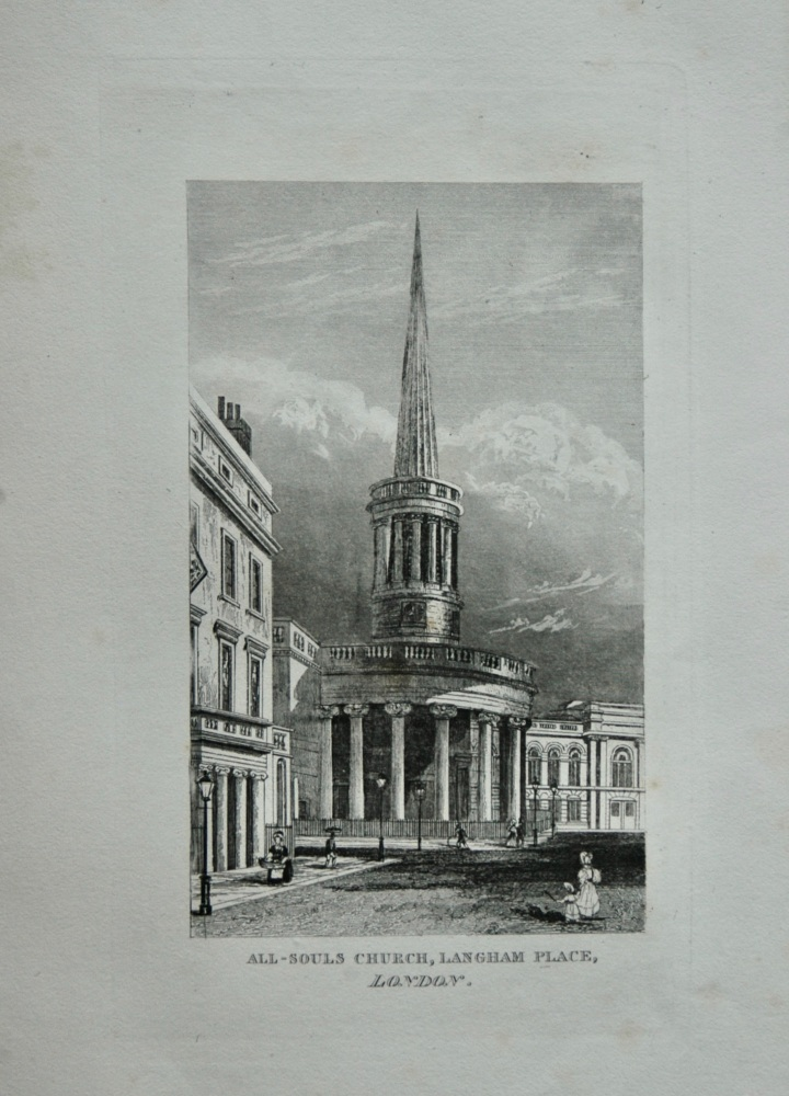 All-Souls Church, Langham Place, London.  1845.