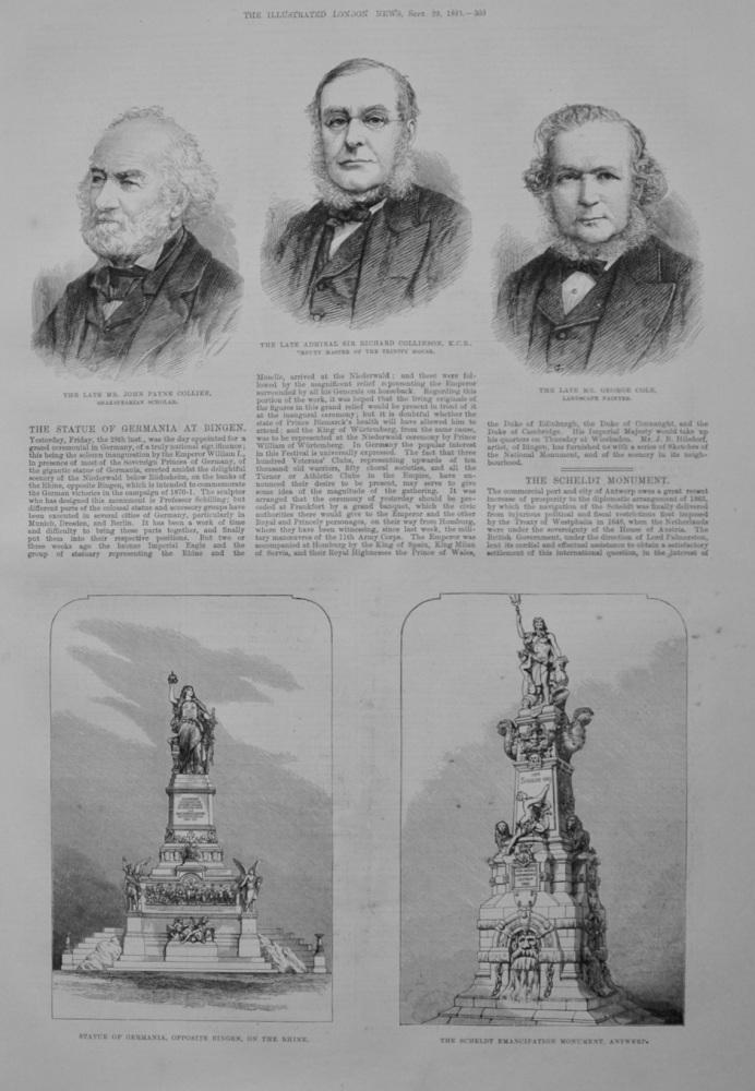 The Statue of Germania at Bingen - 1883
