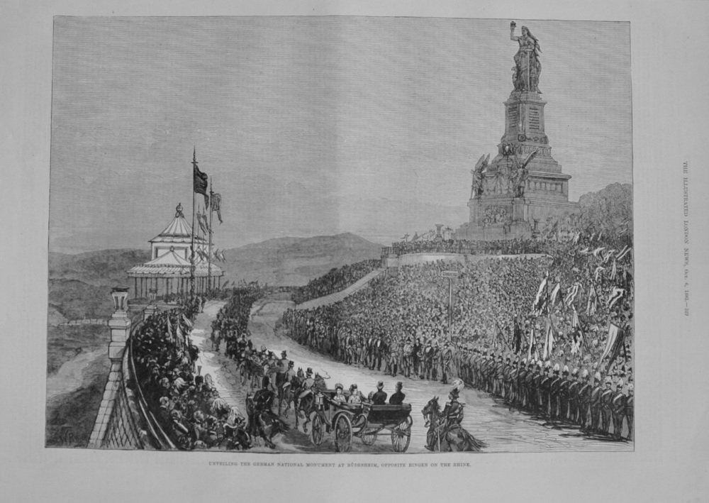 Unveiling The German National Monument - 1883