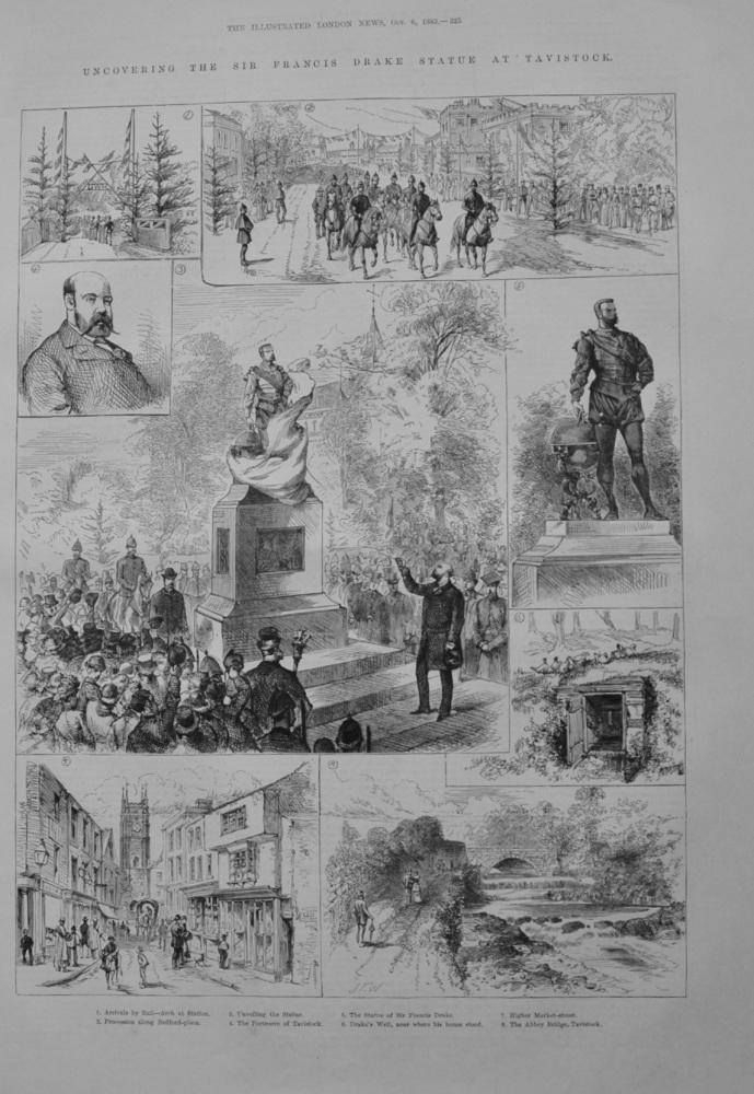 Uncovering the Sir Francis Drake Statue at Tavistock - 1883
