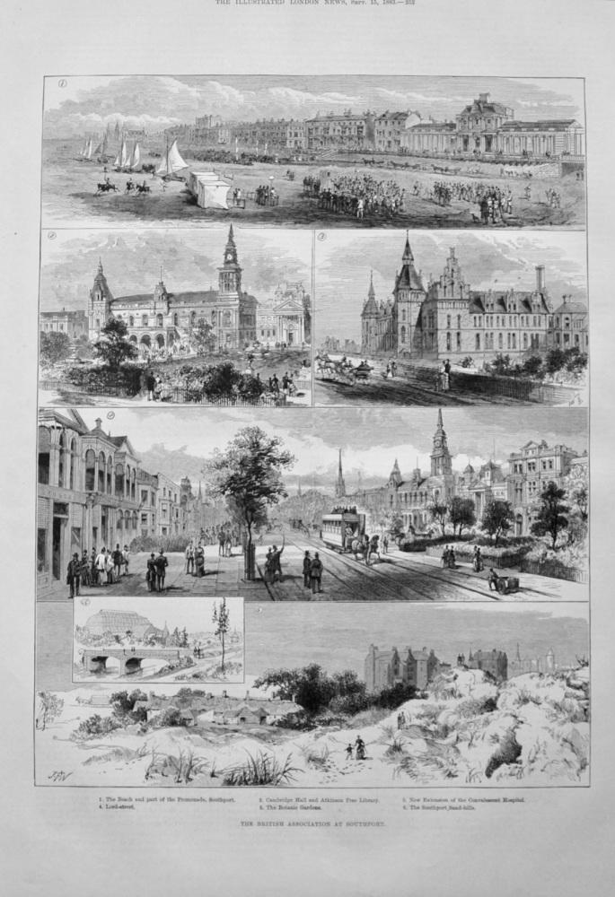 British Association at Southport - 1883