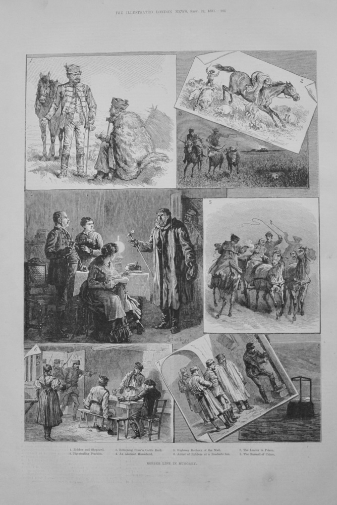 """Robber Life in Hungary"" - 1883"