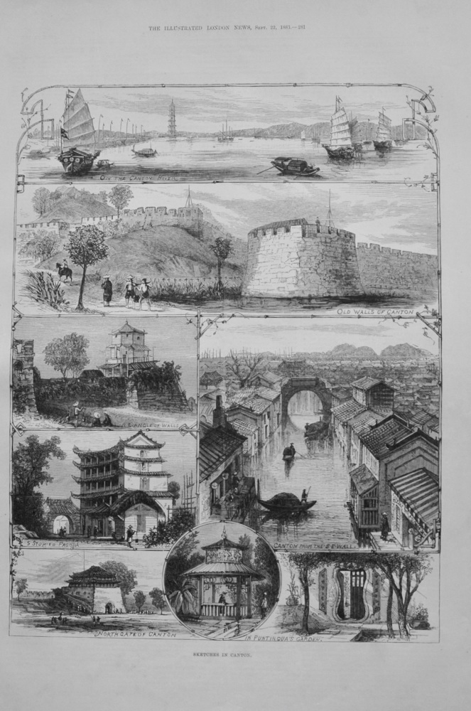 Sketches in Canton - 1883