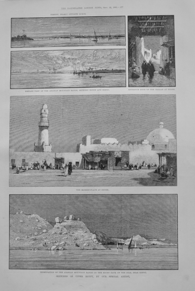 """Sketches of Upper Egypt"" - 1883"