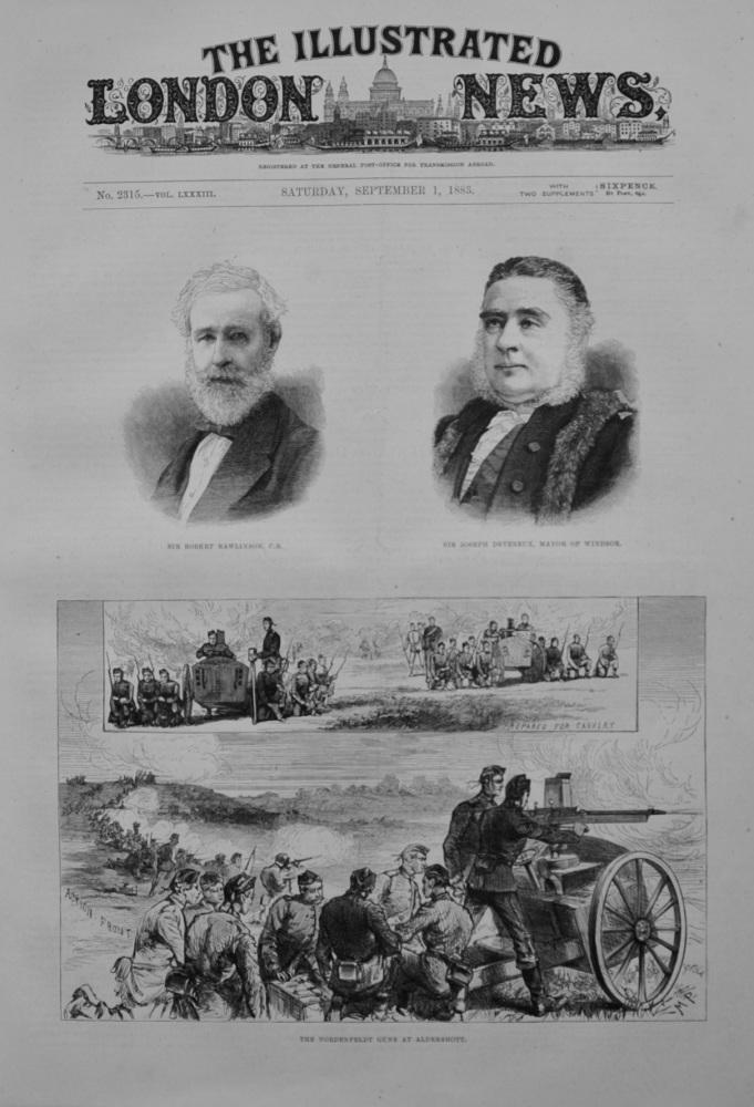 """""""The Nordenfeldt Guns at Aldershott"""" - 1883"""