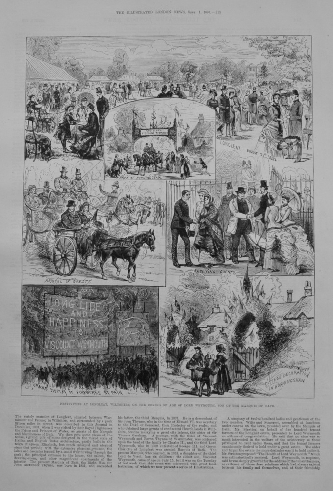Festivities at Longleat - 1883