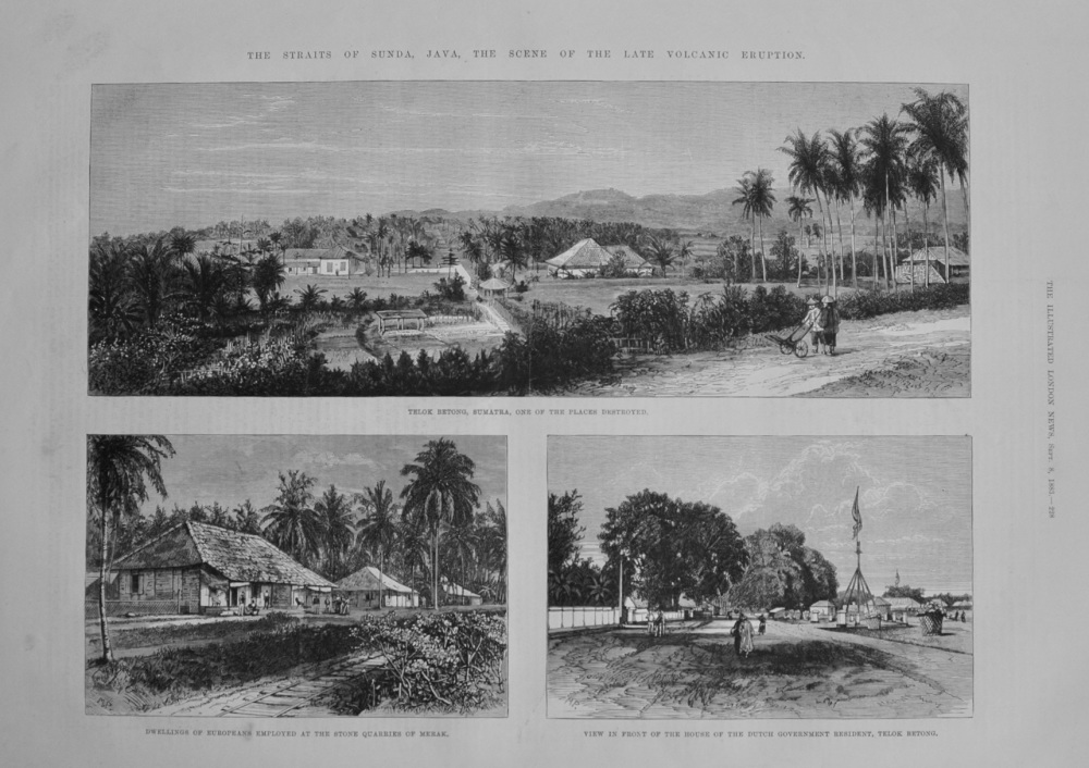 The Straits of Sunda, Java - 1883