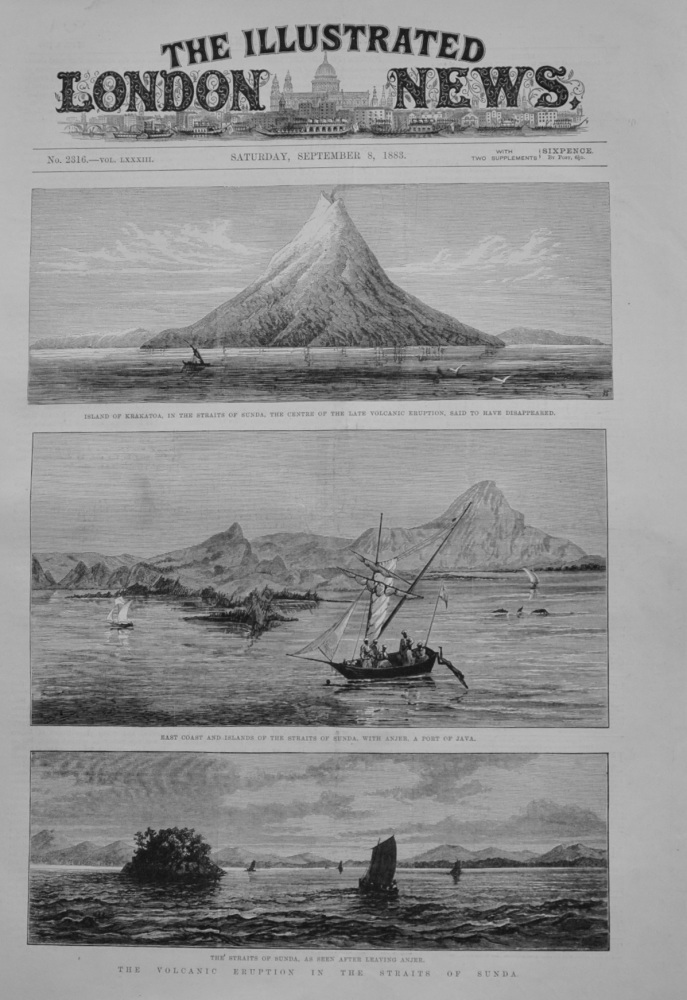 The Volcanic Eruption in the Straits of Sunda - 1883