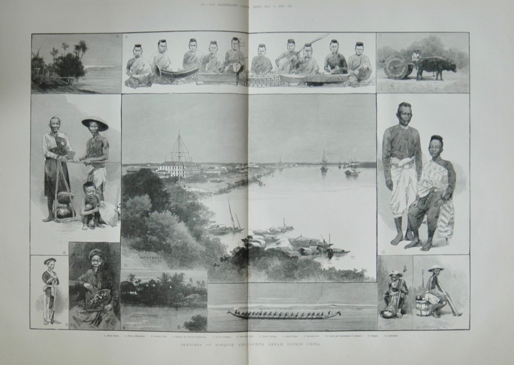 """Sketches of Tonquin and Lower Annam, Cochin China"" - 1883"