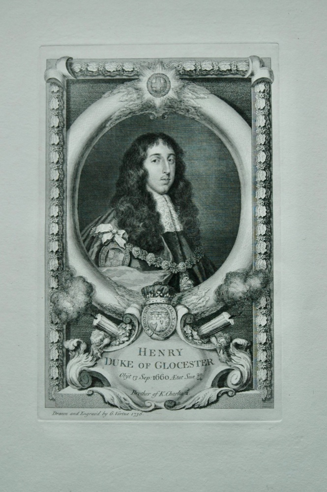 Henry Duke of Glocester. Brother of King Charles II.  1736.