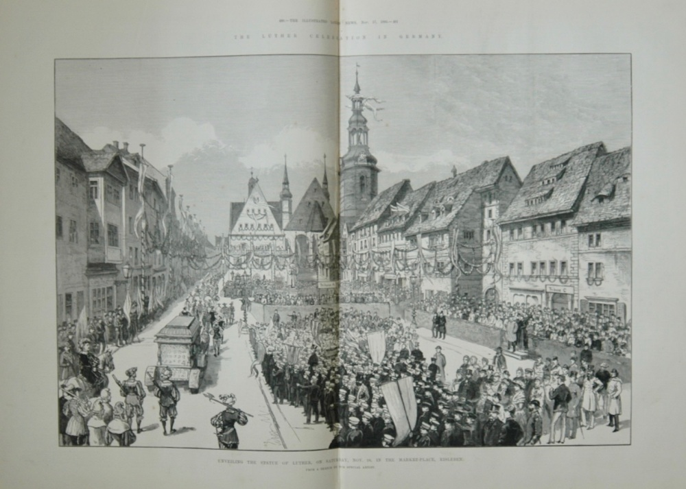 Luther Celebration In Germany - 1883