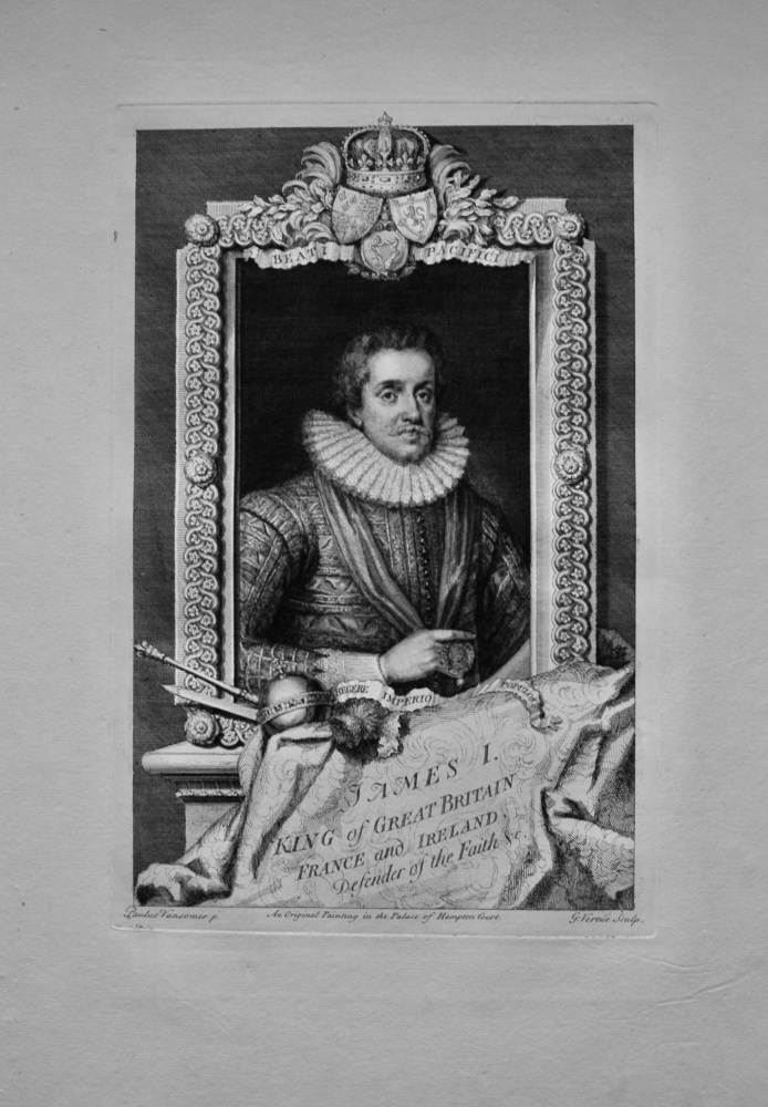 James I. King of Great Britain France and Ireland, Defender of the Faith &c.  1736.
