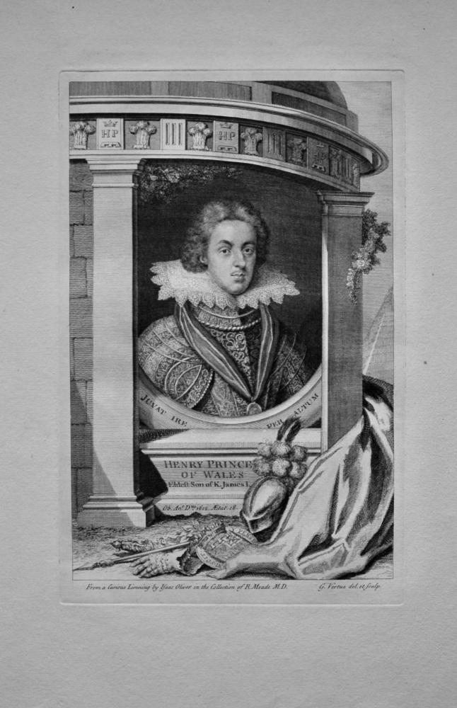 Henry Prince of Wales. Eldest Son of King James I.  1736.