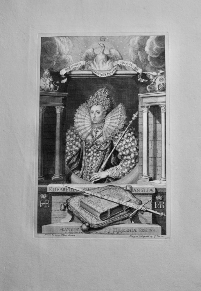 Elisabeth D.G. Angliae Franciae ET Hiberniae Regina.  1736.